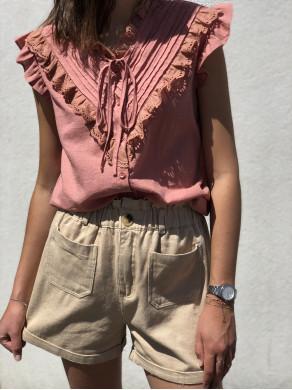 Top Adèle bois de rose