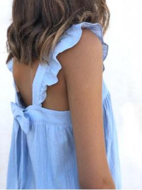 Top Lucette Bleu Ciel