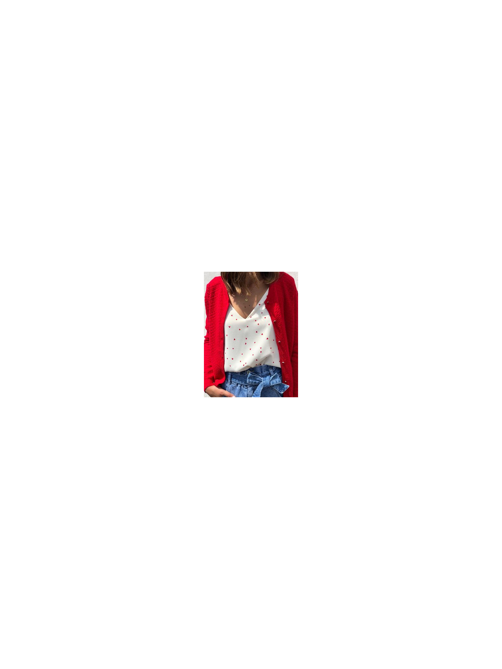 Gilet Corentine Rouge