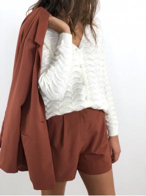 Short Clothilde Terracotta