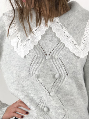 Pull Charlotte Gris